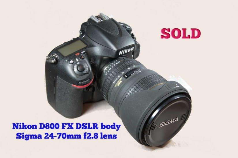D800 Body Sigma 24-70