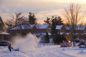 Digging out after a series of snow storms