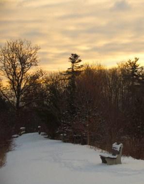 Sunrise wintescape